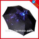 Зонтик гольфа изготовленный на заказ печатание выдвиженческий рекламируя прямой