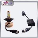 Farol de carro lateral de 4 lados LED para Ranaults Carro, farol de carro de LED de 60W COB Chip High Lumen H11 LED Farol de carro Auto Lamp Auto