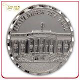 3D головная античная серебряная монета, изготовленный на заказ монетка металла