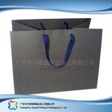 Sac de transporteur de empaquetage estampé de papier pour les vêtements de cadeau d'achats (XC-bgg-020)