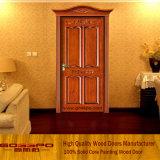 Парадный вход твердой деревянной двери Customerized одиночный высекая (XS2-011)