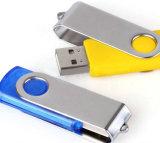 Mecanismo impulsor de madera del flash del USB del tornado con su insignia