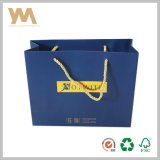 Blue Color Brand Cosmetics Shopping Sac en papier