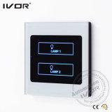 Ivor Smart Home Touch Screen interruptor de interruptor de interruptor de luz com controle mestre / controle remoto