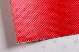 El doble echa a un lado el paño revestido de goma de la fibra de vidrio del silicio