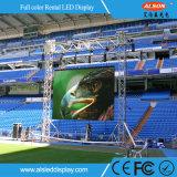 Aluminio Die-Casting P4 de alquiler en el exterior de la etapa de la pared de vídeo LED