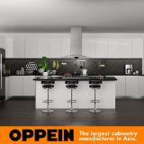 Oppein PVC Acabado cocina moderna de madera gabinete (OP15-PVC06)
