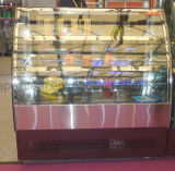 케이크 전시를 위한 스테인리스 기초 2 선반을%s 가진 새로운 디자인 케이크 진열장