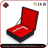 Подгонянная коробка голубой бумаги типа упаковывая для ювелирных изделий