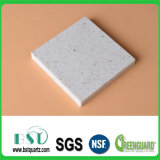 Laje branca da pedra de quartzo da faísca para a telha de assoalho
