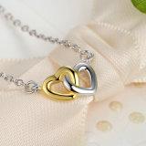 バレンタインのギフトの倍の中心925の純銀製の宝石類の一定のネックレスのリングのイヤリングの宝石類セット