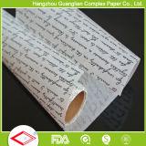 カスタムロゴによって印刷される焼けるペーパー焦げ付き防止の羊皮紙は食糧包むことを広げる