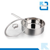3 parti dell'acciaio inossidabile di alta qualità 304 che cucina il POT della minestra