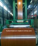 La configuration en bois a enduit la bobine en acier/bobine d'une première couche de peinture en acier en acier enduite d'une première couche de peinture de Coil/PPGI