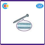 Aço de carbono de DIN/ANSI/BS/JIS/4.8/8.8/10.9 parafusos galvanizados Stainless-Steel da Bandeja-Cabeça com o dielétrico transversal do Pin