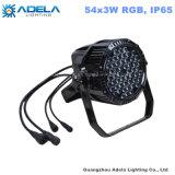 방수 54X1w/3W RGB LED 동위 옥외 빛