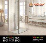azulejo brillante de la pared de la cocina de cerámica del cuarto de baño 6D-Inkjet para de interior casero