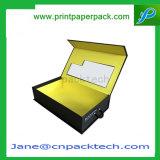 Extensions rigides faites sur commande de cheveu de cadeau de guichet de PVC de papier enduit empaquetant le cadre