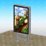 Retangle 모양과 알루미늄 강철 물자 태양 광고 가벼운 상자