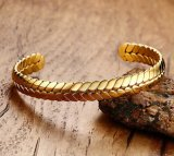 De gepersonaliseerde Armband van het Manchet van de Tarwe van de Juwelen van het Roestvrij staal