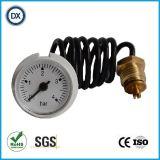 Манометр давления воздуха нержавеющей стали 001 капилляра
