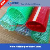 정밀한 철사 땋는 투명하거나 명확한 PVC 철강선 나선에 의하여 강화되는 호스