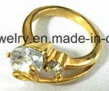 Anillo de la piedra del anillo del acero inoxidable (SCR2910)