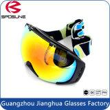 Beschermende brillen van de Ski van de Sneeuwscooter van de Motorfiets van de Beschermende brillen van de Veiligheid AntiUV400 van de douane de Wind Beschermende