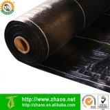 Estera negra de Weed de la cubierta de tierra de la tela del paisaje del polietileno de la alta calidad 100GSM