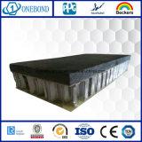 Schwarzes Steinaluminiumbienenwabe-Panel für Wand