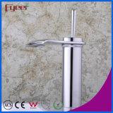 Golpecito de mezclador del agua del grifo del lavabo del cuarto de baño de la maneta del aerosol ancho en abanico de Crative de la cascada de Fyeer solo