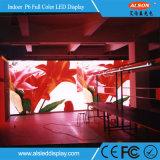 Muestra de interior a todo color del alquiler P6 LED de SMD