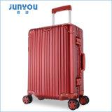 Junyou de 20 pulgadas de alta calidad de aleación de aluminio duro instrumento Trolley maletas con ruedas