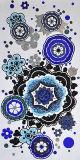 La decorazione descrive i cinesi fatti a mano di arte del mosaico