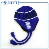 La moda de ganchillo Earflap Beanie Hat con la etiqueta de logotipo personalizado