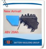 New Arrival Triangle 48V 20ah Bateria de lítio para bicicleta elétrica com 13s8p