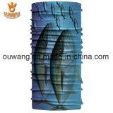 Zoll gedrucktes Polyester Microfiber, das nahtlosen RöhrenBandana für das Komprimieren fischt