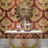 싸고 정밀한 호화스러운 꽃 디자인 벽지 실내 벽 장식적인 돋을새김된 벽지
