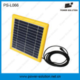 Фонарик энергии силы панели солнечных батарей портативный солнечный с радиоим MP3