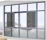 Sombre avec la clé de la poignée en alliage en aluminium anodisé Aluminium/Aluminium Fenêtre Vitre coulissante