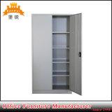 Marchandises de portes d'étalage de 2 compartiment en acier d'oscillation de fer de bibliothèque jumelle de bibliothèque avec 4 étagères
