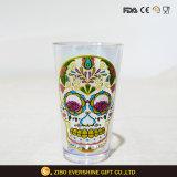Чашка стекла Kitchenware прозрачной пинты этикеты черепа стеклянная