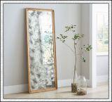Le bord décoratif givré de /Beveled de miroir de /Bathroom de miroir a repéré le miroir en verre d'antiquité de miroir de la configuration DEL