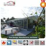 200 Pessoas tendas retângulo de alumínio com vidro de paredes de ABS