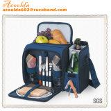Sacchetto del dispositivo di raffreddamento del Hamper dello zaino di picnic delle 2 persone con l'insieme degli articoli per la tavola