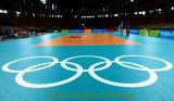 伸縮性ロールは屋内バレーボールおよびバスケットボールの中国製床を張るPVCスポーツを工場のために遊ばす