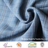 Blue hilo catiónico teñido de tejido de camisa