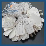 De gerecycleerde Witte Glanzende Prijs van de Juwelen van het Document hangt Markering