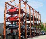 Quatro borne 3 tirante vertical hidráulico do estacionamento do carro de 4 empilhadores