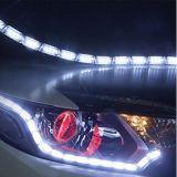 Luzes de tira do diodo emissor de luz do carro, luz Daytime branca/ambarina do diodo emissor de luz flexível brilhante do carro da luz Running da volta de sinal